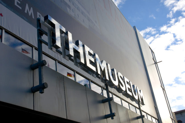 A photo of the outside of THEMUSEUM.