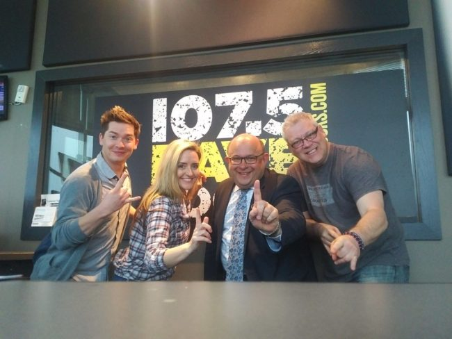 Gayle O'Brien one of Dave FM's Morning Show and a friend of THEMUSUEM.