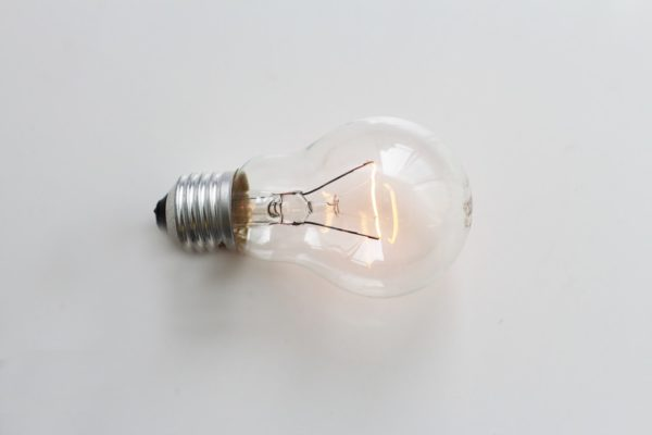 A photo of a lightbulb.