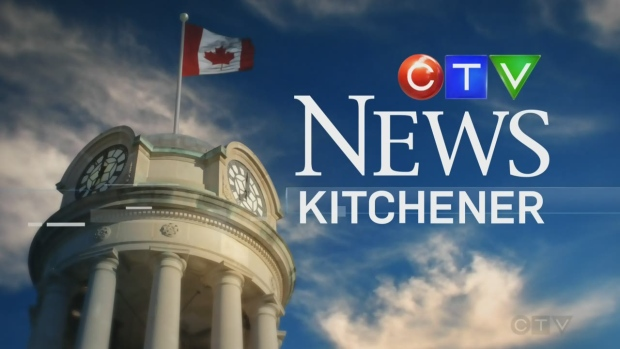 A photo of the opening sequence of CTV News Kitchener.