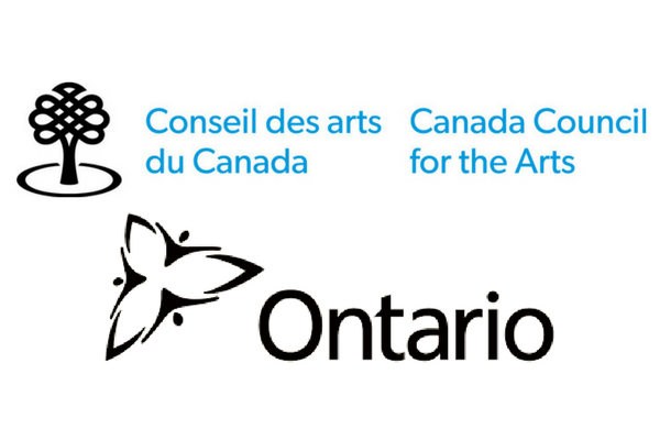 The logo for Ontario Government and Canada Council for the Arts.