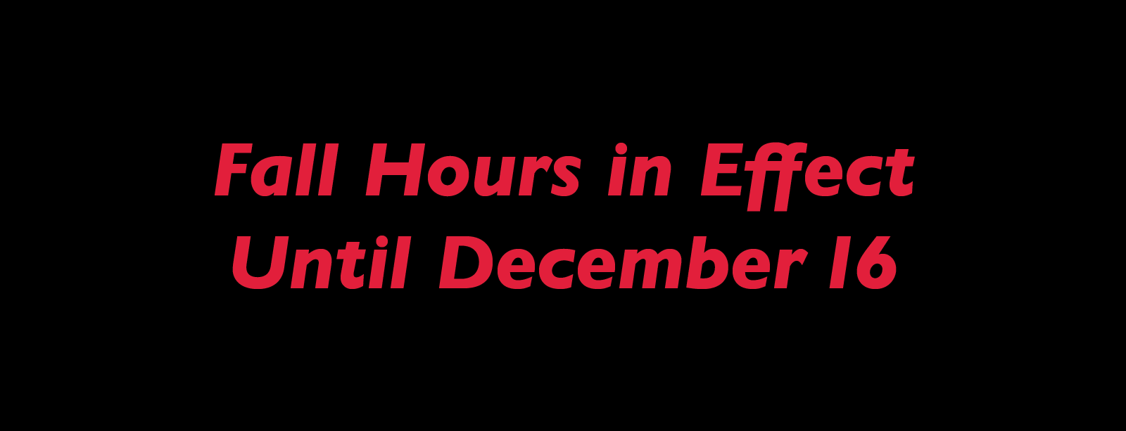 Special Hours
