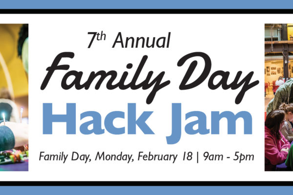 A Photo promoting the Family day Hack Jam.